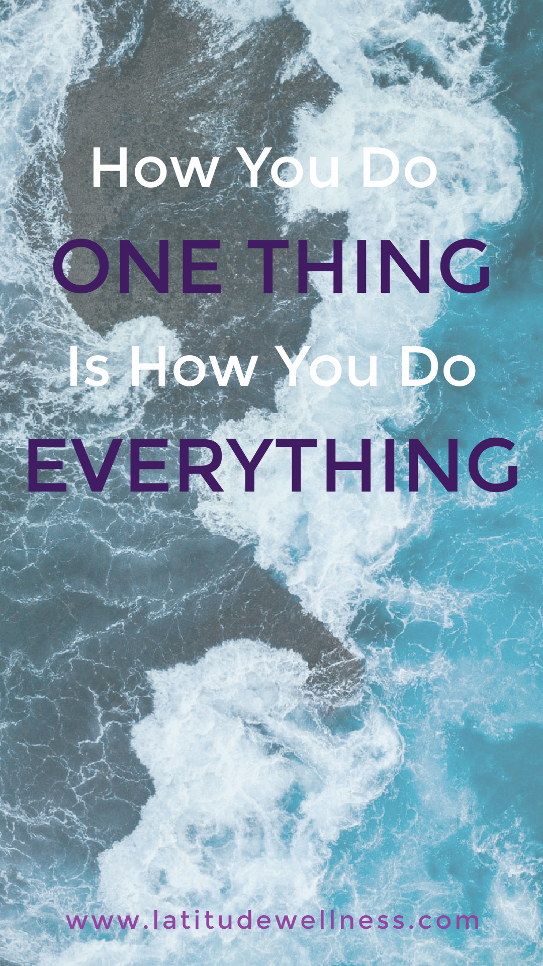 Stress: How you do one thing is how you do everything
