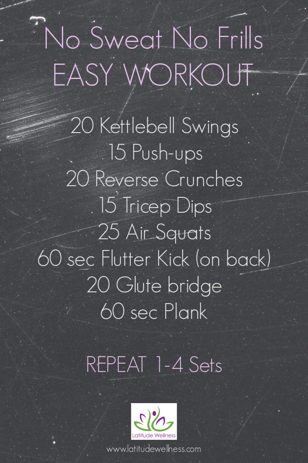 No Sweat No Frills Easy Workout